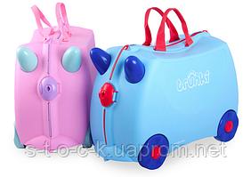 Валіза дитячий Trunki Rosie. Рожевий з дивовижними кольоровими ручками!