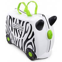 Чемодан детский Trunki Зебра. Красочный чемодан для деток