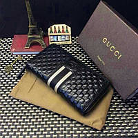 Мужской кошелек Gucci (138032) black