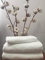 Махровое полотенце без бордюрное 70Х140 белое 550