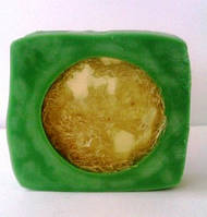Мыло-мочалка квадратное (с люфой), фото 1