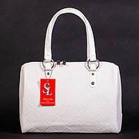 Женская белая сумка дамская деловая №1342wnr