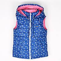 Демисезонные нарядные жилетки для девочек.
