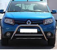 Кенгурятник на Renault Sandero Stepway (c 2012--) Рено Сандеро Степвей PRS