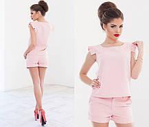 Т103 Костюм женский блузка+шорты в расцветках, фото 2
