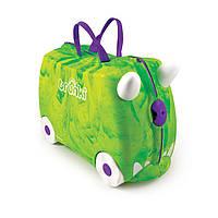 Чемодан детский Trunki Rex (Рекс). Зеленый. В подарок НАКЛЕЙКИ!, фото 1