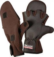 Перчатки Флис/теплые с откидной варешкой/обрезан,пальц Dragon