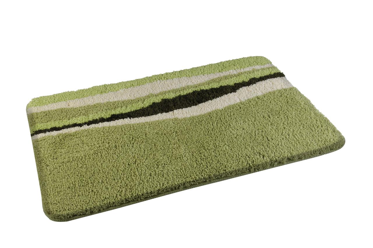 Коврик для ванной комнаты из микрофибры 50*80 зеленый AWD02160777