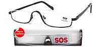 Очки для чтения «SOS» (унисекс) P 001 с футляром.