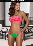 Купальник бандо GB1503 розовый/зеленый