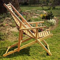 Лежак с деревянным настилом без подножки Элегант