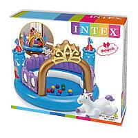 Надувной игровой центр Intex 48669 Замок единорога (детский бассейн)