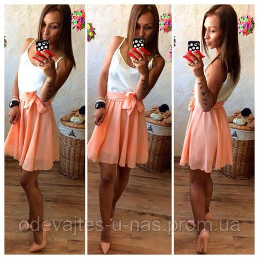Платье Бриз на тонких брителях по талии на поясе и длиной выше колена на подкладе 24 ЛЯ - Одевайтесь у нас в Одессе