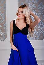 """Нарядное миди-платье """"Danielle"""" с декольте и карманами (4 цвета), фото 3"""