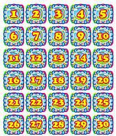 """Набор наклеек для детского сада """"Цифры"""""""