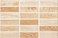 Плитка для стены InterCerama MADERA 230х350 коричневая светлая