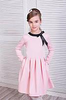 """Нарядное детское платье """"Alisa"""" с карманами и длинным рукавом (3 цвета)"""