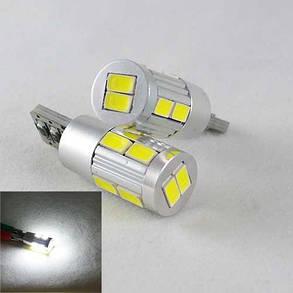 Автомобильная лампа в габарит SLS LED цоколь T10 (W5W) с обманкой бортового компа,светодиоды 5630 12В., фото 2