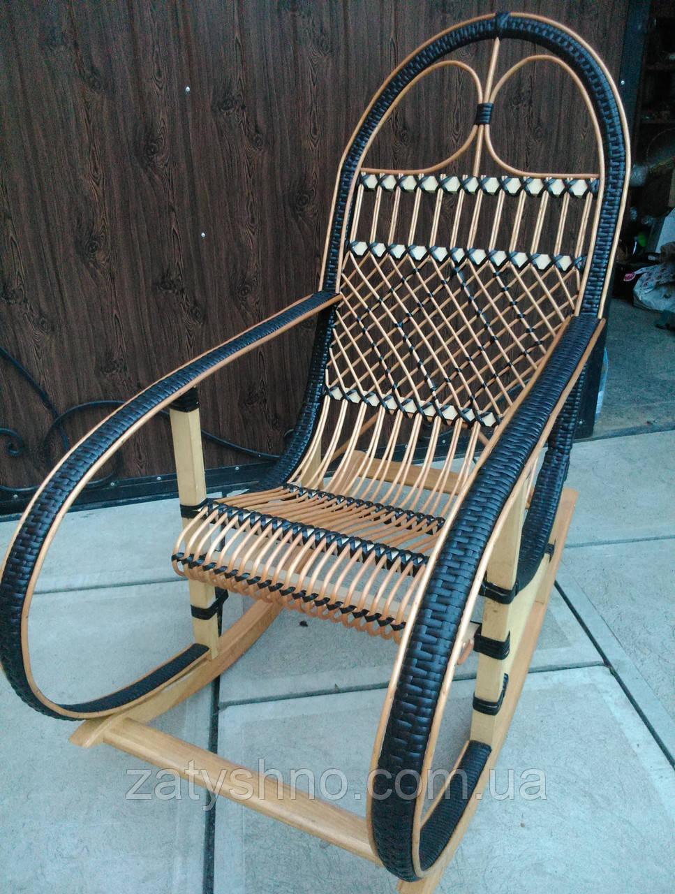 Плетеное кресло-качалка из лозы | кресло-качалка для отдыха садовая для дачи