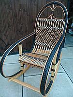 Плетеное кресло-качалка из лозы | кресло-качалка для отдыха садовая для дачи, фото 1