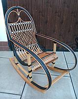 Кресло качалка из ротанга черная, фото 1