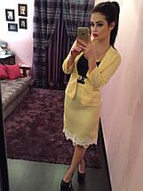 """Летний офисный женский костюм """"Karina"""" юбка-карандаш и жакет (3 цвета), фото 3"""
