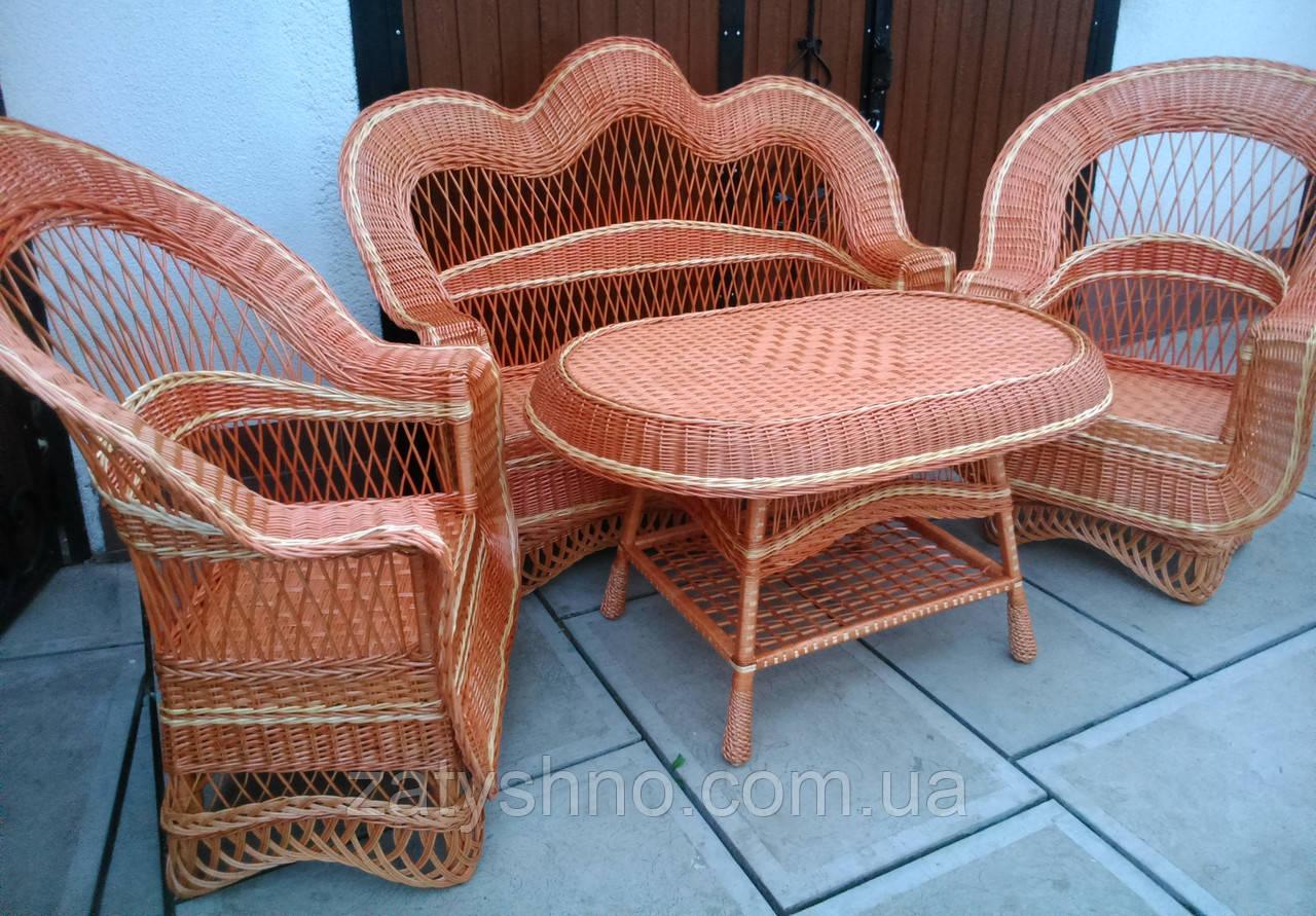 Мебель плетеная из лозы для веранды