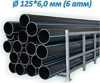 ТРУБА ПЭ водопроводная  125*6,0 (6 атм) SDR 21