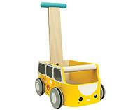 "Деревянная игрушка ""Каталка фургон-жёлтая"", PlanToys"