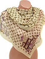 Легкий женский шифоновый шарф размером 50*160 см Подиум 10995-19 (бежевый)