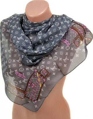 Очаровательный женский шифоновый шарф размером 50*160 см Подиум 10995-18 (графит)