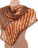 Великолепный женский шифоновый шарф размером 50*160 см Подиум 10995-16 (коричневый)