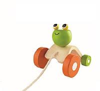 """Деревянная игрушка """"Прыгающая лягушка"""", PlanToys"""
