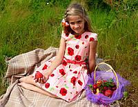 """Платье розовое """"Bright roses"""" Mevis"""