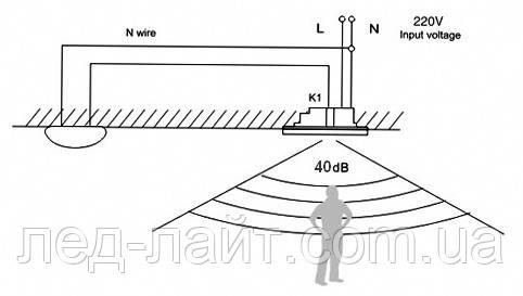 Схема подключения фотореле с датчиком звука