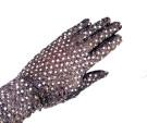 Перчатки серебристые с пайетками