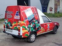 Рекламное оформление автотранспорта и витрин