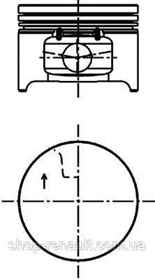 Поршень двигателя, комплект Logan,Sandero 1,4 MPI 04- Kolbenschmidt 40 277 600