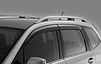 Дефлекторы окон для Chevrolet Aveo '06-11 седан, хром (Auto Сlover)