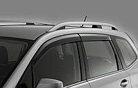 Дефлекторы окон для Chevrolet Niva '02- с хром. молдингом (Cobra)