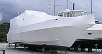 Упаковка яхт для хранения и транспортировки