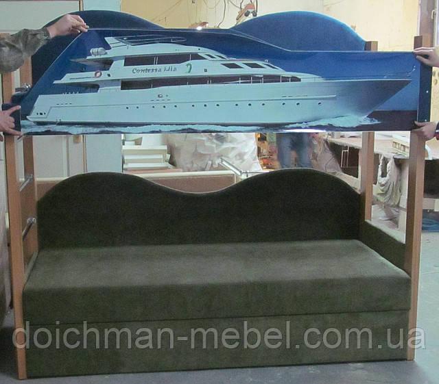Двухъярусные кровати с диваном на заказ в Украине