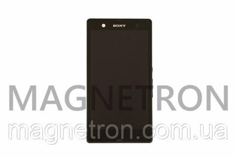 Дисплей с тачскрином и передним корпусом для мобильных телефонов Sony