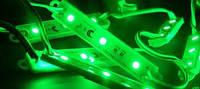 Светодиодный модуль SMD 5050 3 светодиода 120* зеленый IP67 Код.57114