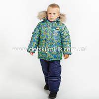 Детский зимний комбинезон (куртка + полукомбинезон) для мальчика,