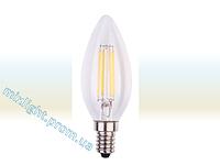 Светодиодная лампа Filament 4W 3000K E14 C35