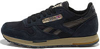 Женские кроссовки Reebok Classic Leather Utility navy, рибок класик