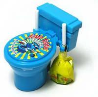"""""""Toilet"""" - Необычные конфетки Унитазики с кислой присыпкой - Голубой"""