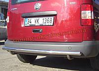 Защита заднего бампера труба прямая D60 на Volkswagen Caddy 2004-2010, фото 1