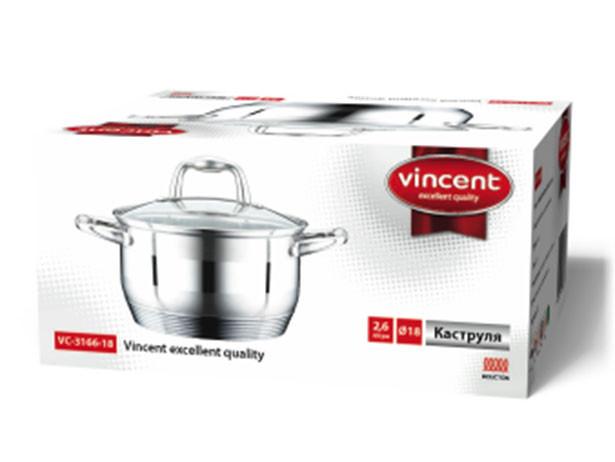 Кастрюля 6,1 литр Vincent VC-3166-24